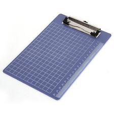 Pad Clip Holder Folder Plastic Clipboard Blue for paper A5 LW