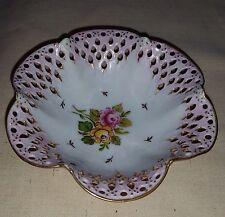 Vintage Tettau Atelier -  Small  Ruffled Reticulated / Pierced Bowl