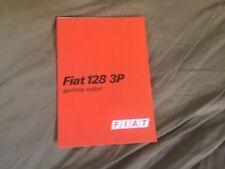 1970s Fiat 128 3P Colors Brochure Prospekt