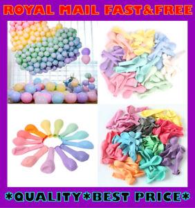 "12"" Pastel Macaron Latex Balloons Colourful Party Birthday Wedding Decoration"