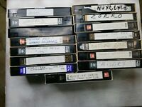 Lot of 15 Used Pre-recorded VHS Tapes Sold as BLANKS
