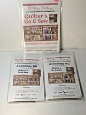 QUILTER'S GO & SEW NOTIONS CASE PATTERN From Pat-E-Patterns + 2 Assembly Kit