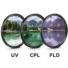 58mm Filter Kit 3 piece UV FLD CPL Filters For Canon Nikon Sony DSLR Cameras