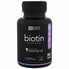 NEW SPORTS RESEARCH BIOTIN HAIR SKIN & NAILS DIETARY SUPPLEMENT DAILY BODY CARE