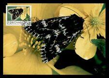 DR WHO 1993 FAROE ISLANDS MOTH BUTTERFLY MAXIMUM CARD FDC C179741