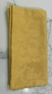 """Sferra Yellow Square 22"""" Napkin Flower and Leaves Subtle Pattern"""