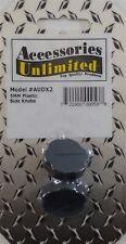 Accessories Unlimited Audx2 Cb Radio Plastic Black 5mm Thread Knobs - 2 Pack