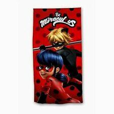 Drap de plage Miraculous , serviette Ladybug, drap de bain Miraculous