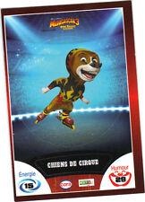 Vignette de collection autocollante CORA Madagascar 3 n° 57/90 -Chiens de cirque