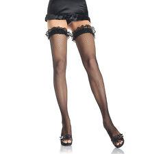 Collant autoreggenti nere a rete SEXY COLLANT CALZE INTIMO ABITO donna calze