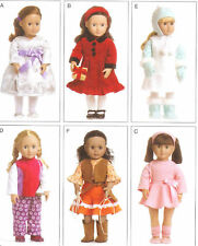 PATTERN for Winter doll Clothes McCalls 6257 Cowgirl dress boots fits 18in dolls