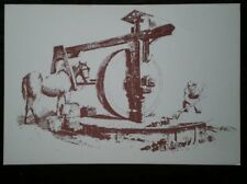 POSTCARD SOCIAL HISTORY RURAL INDUSTRY IN 19TH CENTURY - A HORSE MILL FOR GRINDI