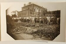 26586 Foto AK 1. Weltkrieg Soldaten vor Ziegelbau Gortemark 1916 PC CPA WW I