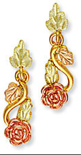 Landstrom's® 10k Black Hills Gold Post Rose Earrings