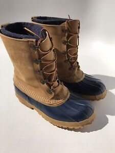Vintage LL BEAN Hunting Duck Boots Womens Size 8 Wool Insulated Leather Maine