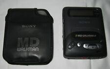 Sony Mz-R2 Md Walkman Portable MiniDisc Player w/ Case ~ Parts Not Working