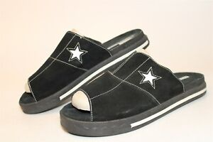 Converse ALL Star Mens 10 44 Rare Casual Black Suede Sandals Slides Shoes 1H9611
