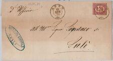 53790  - ITALIA  REGNO - Storia Postale:  SEGNATASSE su BUSTA da ANFO 1875