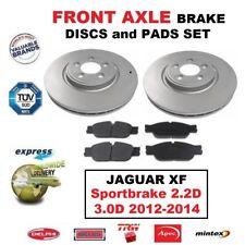 FOR JAGUAR XF Sportbrake 2.2D 3.0D 2012-2014 FRONT AXLE BRAKE PADS + DISCS 325mm