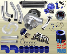 01-05 Civic 1.7L Ex Dx Lx T04E Turbocharger Turbo Kit Blue+Manifold+Bov+Wg+Gauge