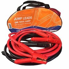 QUALITY Heavy Duty 1000A Jump Leads 5M Long - Car, Van Commercial starter Cables
