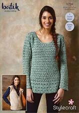 Stylecraft Crochet Pattern 9294 Ladies Sweater