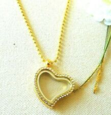 Tone Chain Us Seller Stock New Necklace Heart Glittery Gold Living Memory