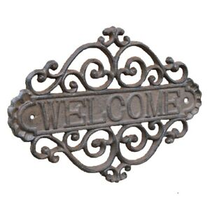 Cast Iron WELCOME Sign Wall Home and Garden Decor