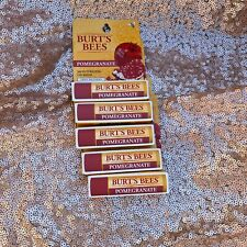 5x Burt's Bees Pomegranate Moisturizing Lip Balm 100% Natural New In Package