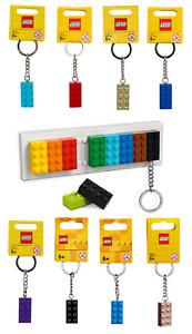 BRAND NEW LEGO KEY CHAIN HANGER ORGANISER SET + 8 EXTRA BRICK KEYRINGS 853913