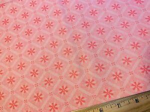 Vintage Cotton Feedsack Fabric 30s40s SWEET Little Pink & White PinWheels EXC