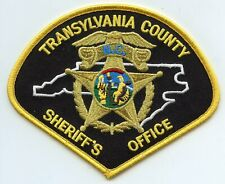 TRANSYLVANIA COUNTY NORTH CAROLINA NC SHERIFF POLICE PATCH