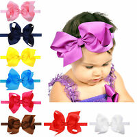 Fashion Baby Girls Large Bow Headband Infants Toddler Knot Hair Bands Head Wraps