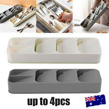 Cutlery Organizer Spoon Tray Insert Utensil Divider Kitchen Drawer Compact Box
