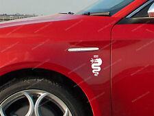2 x Alfa Romeo Aufkleber für Seite GT 147 156 159 Giulietta Giulia Emblem Logo