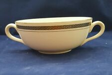 Vintage  Burleigh Ware 2 Handle cups/Soup Bowls White & gold.