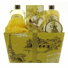 Spa Gift Basket, Bath and Body Set with Vanilla by Lovestee - Includes Paris .