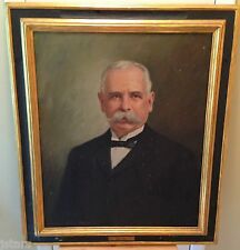 WILBUR FISKE NOYES PAINTING of DAVID S. PACKARD, BROCKTON, MA, WALFRED THULIN
