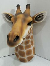 Safari Giraffe Head Jungle Wall Decor Bust Sculpture Figurine New Great Gift