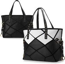 große Handtasche Shopperbag Damentasche goldene Details