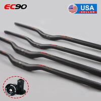 EC90 MTB/DH Bicycle 31.8/25.4mm Carbon Fiber Handlebar Flat/Riser 660-760mm Bar
