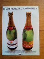 PUBLICITE ANCIENNE PUB ADVERT - Champagne Mercier dos pra-loup