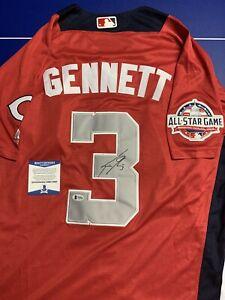 Scooter Gennett Signed Jersey Beckett COA BAS 2018 All Star Game Cincinnati Reds