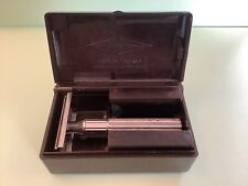 Vintage Gillette Safety Razor Fat Handled Tech, Bakelite Box, Holders & Blades