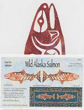 Wild Alaska Salmon Laser Cut Fusible Appliqué DIY, Appliqué Only, by Lisa Moore