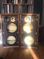 More details for pair of imf als40 transmission line speaker cabinets