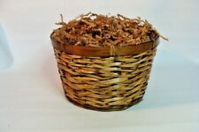 """Gift Basket Supplies Round Wicker Basket 6""""x 9"""" Ready For You To Fill !"""