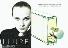 PUBLICITE ADVERTISING 016  1996  CHANEL  parfum femme ALLURE  (2p) 2