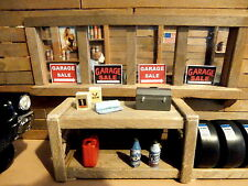 4 GARAGE SALE DIORAMA SIGNS FOR 1:24 OR 1:25 SCALE