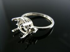 5662 RING SETTING STERLING SILVER, SIZE 6.5, 1-9 MM & 2-3 MM ROUND STONES